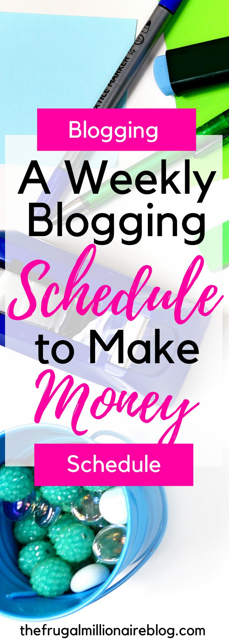 make a weekly schedule online