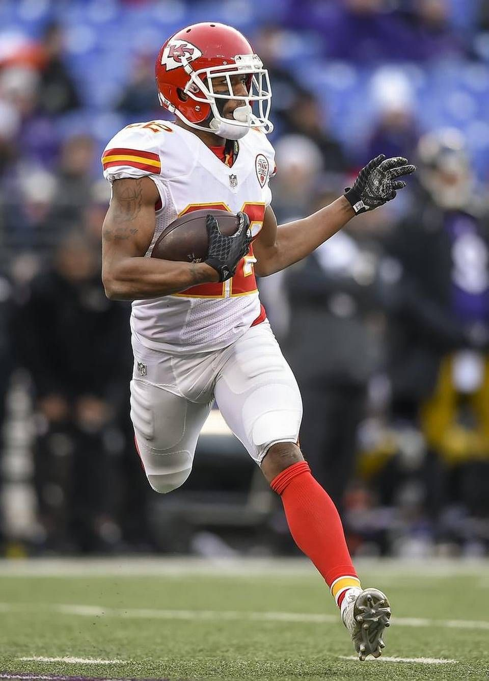 Kansas City Chiefs cornerback Marcus Peters 22 intercepted his