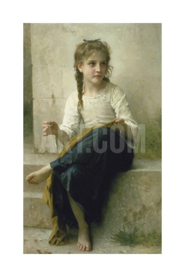 The Fair Spinner Giclee Print - William Adolphe