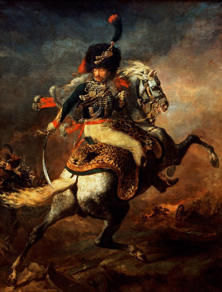 the charging chasseur theodore gericault oil on canvas museacutee du louvre paris a fantastic french r tic painting this time we can see a napoleonic cavalry officer during a cha