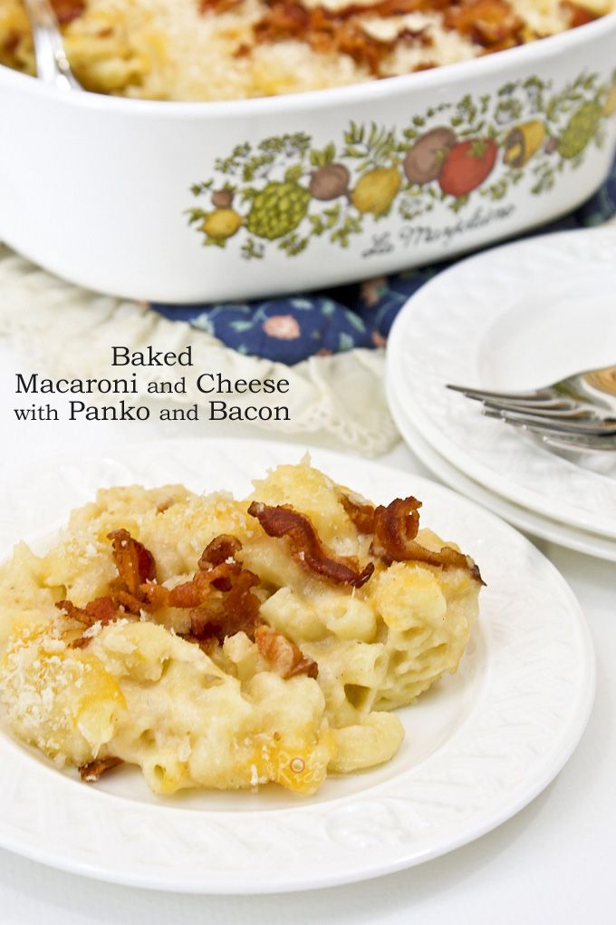 Baked Macaroni And Cheese With Panko And Bacon Recipe Macaroni