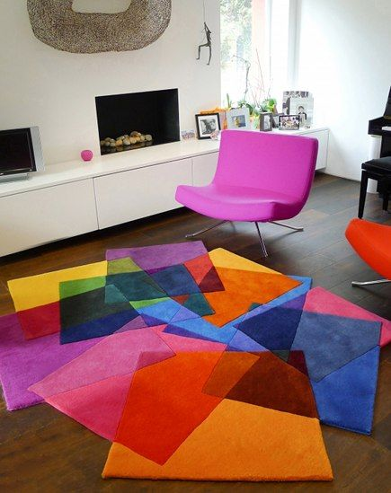 Colorful Modern Rugs After Matisse Contemporary Rug By Sony Winner Studio Atticmag Cool Rugs Carpet Design Living Room Designs