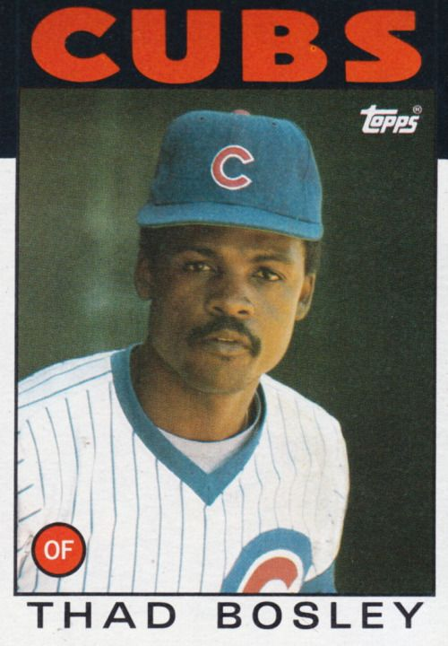 Random Baseball Card #4196: Thad Bosley, outfielder, Chicago Cubs, 1986, Topps.