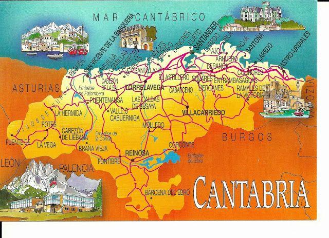 Cantabria Mapa Turístico Mapas Del Mundo Mapa De Cantabria