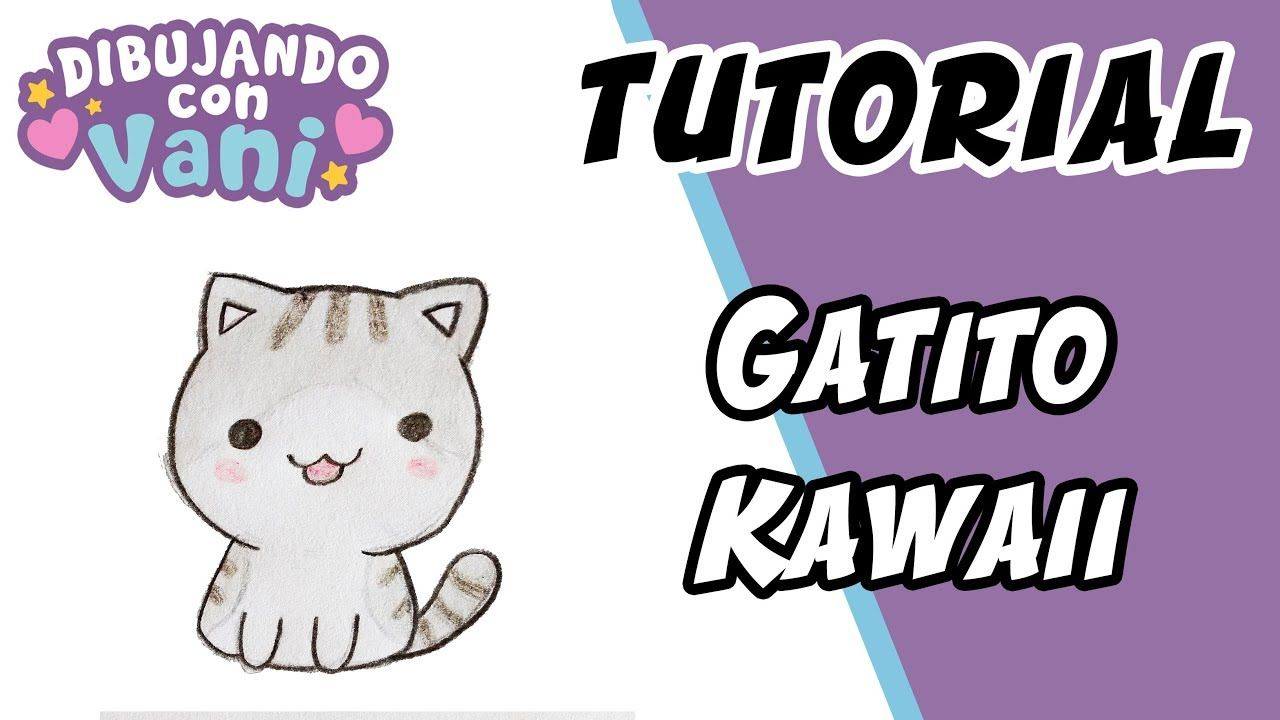 Como Dibujar Gato Kawaii Draw A Cat In Kawaii Gatos Kawaii Como Dibujar Un Gato Dibujos Kawaii