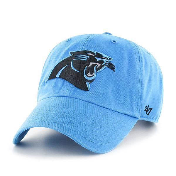 Carolina Panthers Clean Up Glacier Blue 47 Brand Adjustable Hat  2c2edbe21