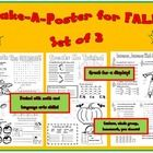 Three easy to assemble posters that are packed with skills perfect for practice in a fun format!  These three posters have got the Fall season cove...
