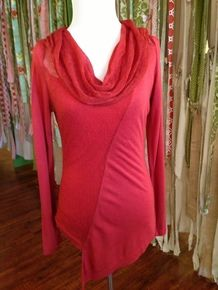 Layered Knit Top in Rust