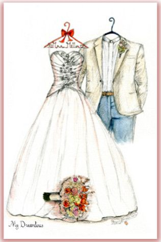 Wedding Gift Certificate Or A Dress Sketch Created Is Perfect Click