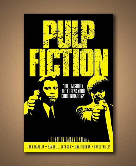 "PULP FICTION Movie Quote Poster (12""x18"") Pulp fiction"
