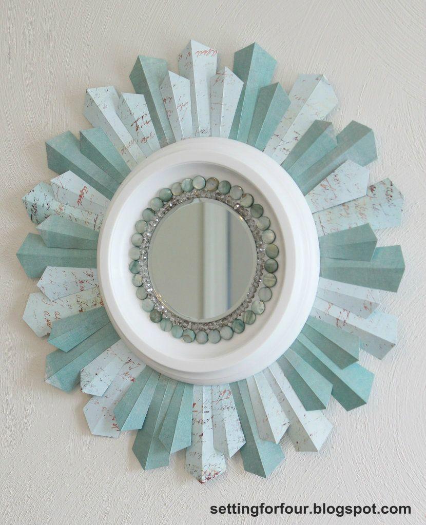 Scrapbook paper craft ideas - Diy Sunburst Mirror Using Scrapbook Paper Photo By Settingforfour Photobucket