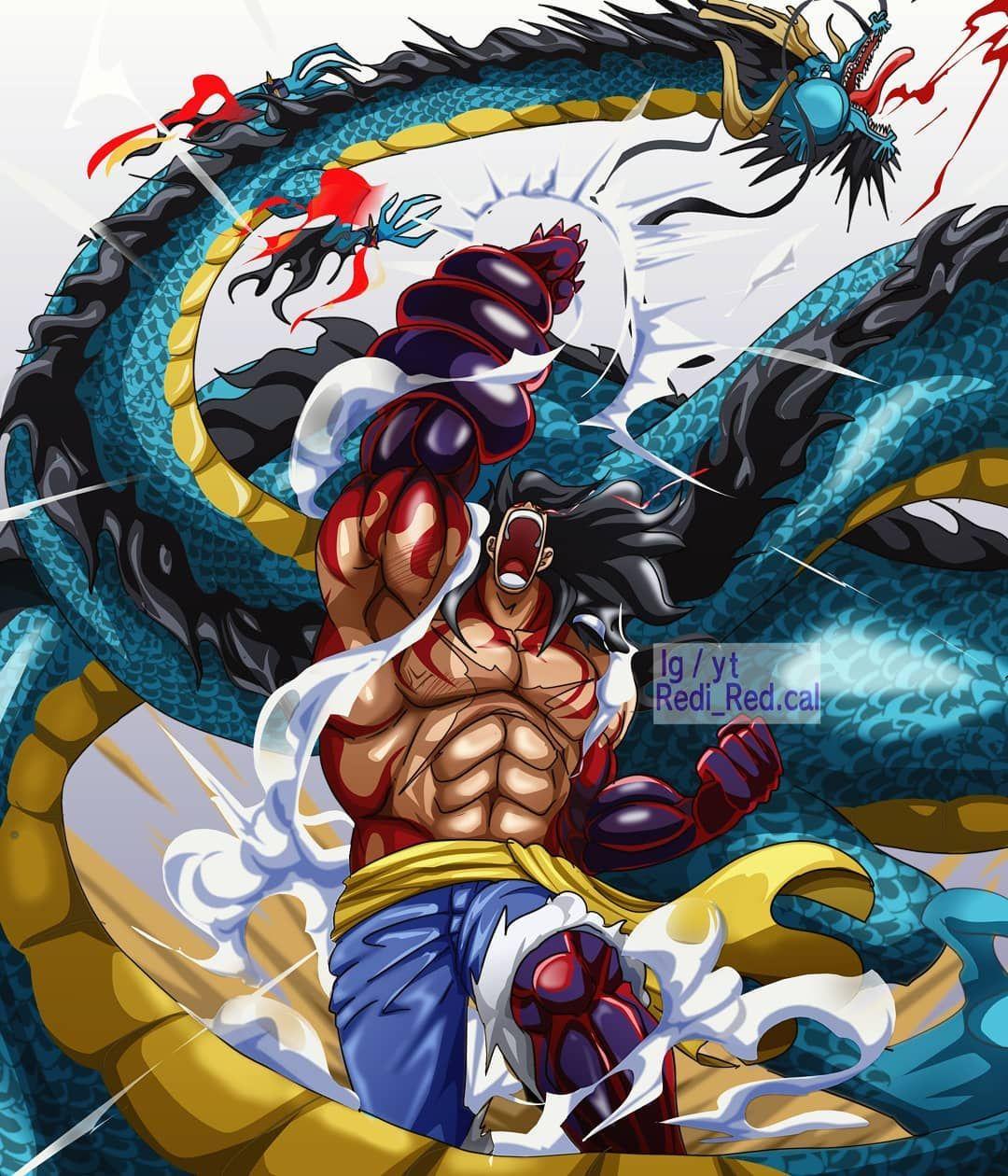 Luffy segera menyerang kaido dengan gear 4: One Piece Wallpaper One Piece Luffy Gear 5 Vs Kaido