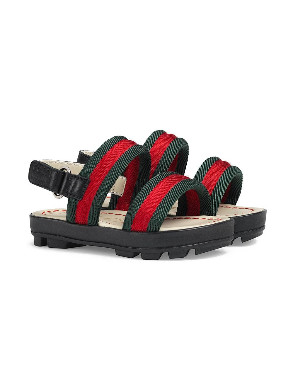 63336617d Gucci Kids Toddler leather and Web sandals - Black in 2019 ...