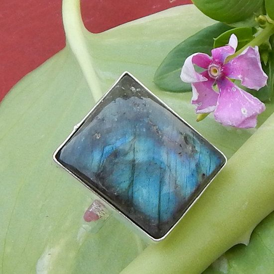 Clearance Sale Cushion Cab Labradorite by NativeFineJewelry, $10.50