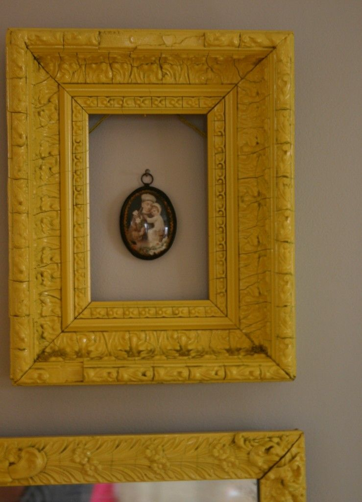 You can leave the space within the frames empty or tack unusual ...