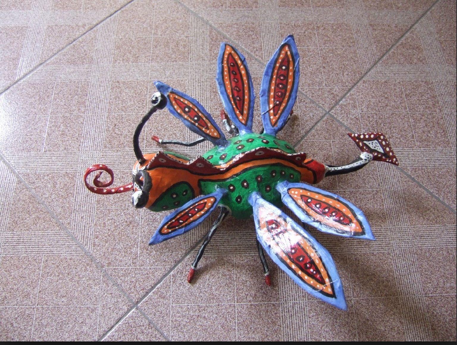 Alebrije con alas de mosca y cola de mantaraya  Alebrijes  Pinterest
