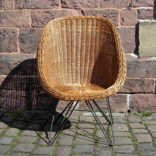 Dise o vintage silla de ratan alemania 1950 1955 for Sillas ratan