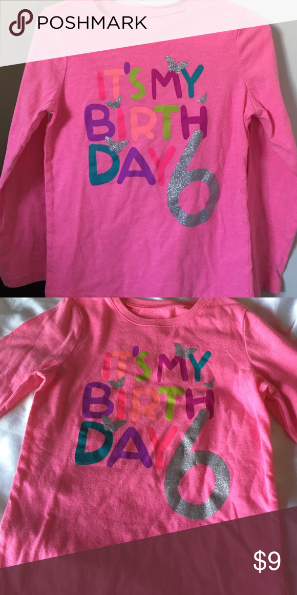 6th Birthday Shirt Childrens Place Its My Long Sleeve Shirts Tops Tees