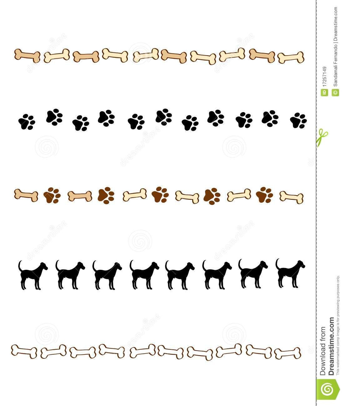Paw Prints Border Divider Royalty Free Stock Images Image