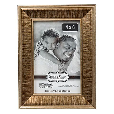 Bulk Special Moments Concave Bronze Polyfoam Picture Frames 4x6 In