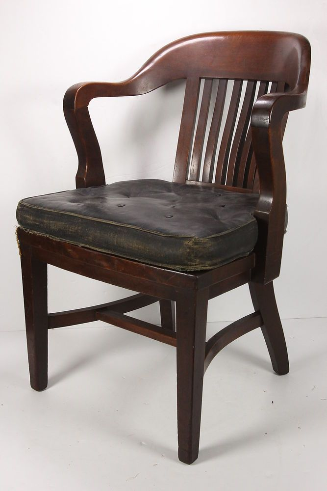 Captivating Walnut Barrister Chair Marble Chair Co Bedford OH 1940 Antique Office  Furniture