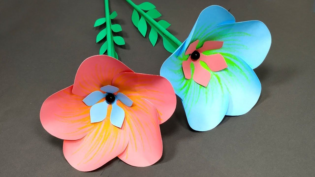 Diy How To Make Easy Beautiful Paper Stick Flower Idea Creative