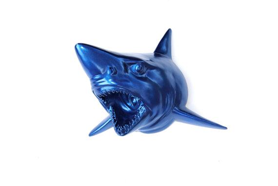 Blue Shark Wall Mount  Faux Taxidermy SH14 by NearAndDeer on Etsy, $119.99