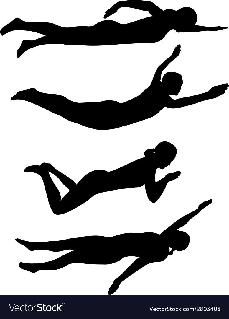 Swimming Vector Image On Vectorstock Swimming Strokes Swimming Swim Fashion