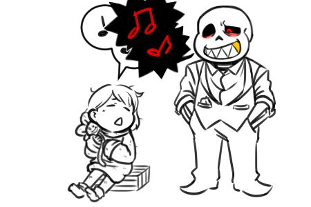 Anonymous said: does bunny sing too? if so, how do the skelebros react to it? Answer: Underfell!Papyrus would watch, but Underfell!Sans will sing along? XD