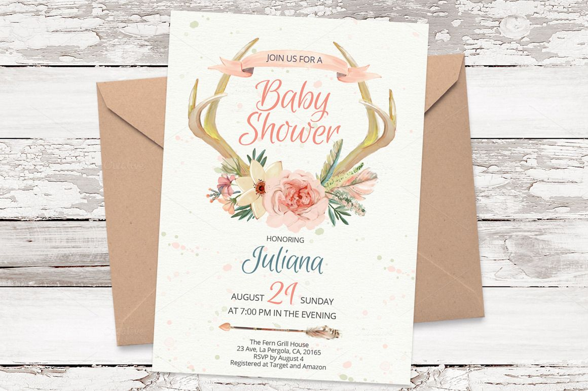 Antlers Watercolor Card Template 21 Watercolor Cards And Birthdays