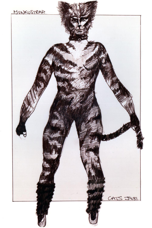 Munkustrap original costume design, John Napier 1981