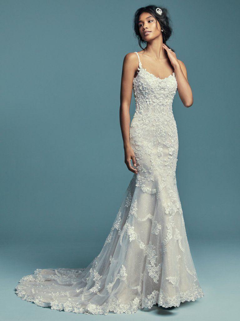 Beaded spaghetti strap wedding dresses  Maggie Sottero Wedding Dresses  Wedding  Pinterest  Maggie
