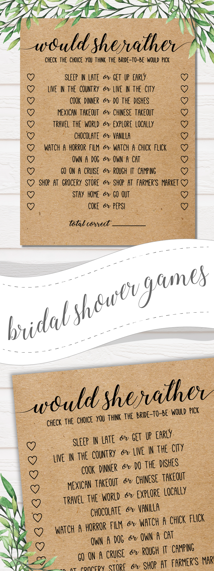 Would She Rather . Would She Rather Bridal Shower Game . Bridal Shower Games #bridalshowerdecorations