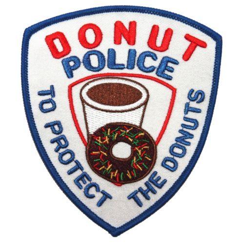 DONUT POLICE SHOULDER PATCH