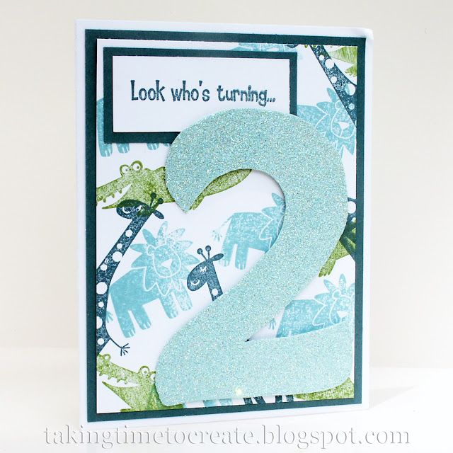 Look Whos Turning 2 Birthday Card A Fun Handmade Featuring Zoo Animals For Little Boy Years Old