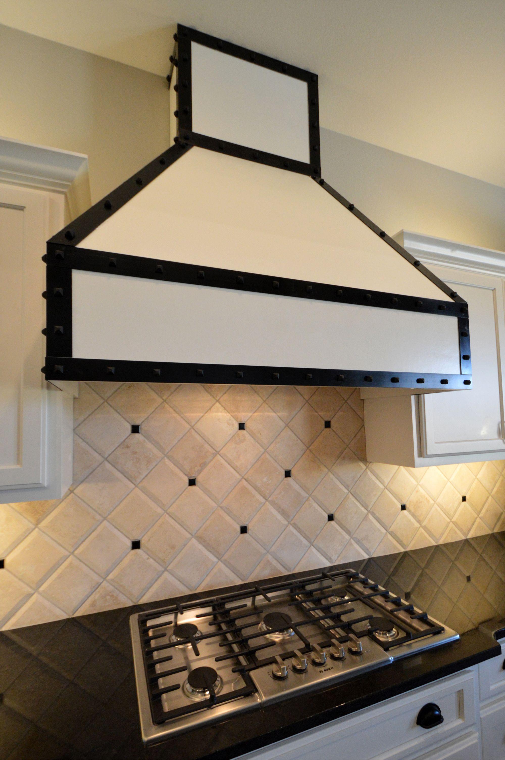 - Beveled Travertine Diagonal Backsplash, Metal Tile Inserts, Metal