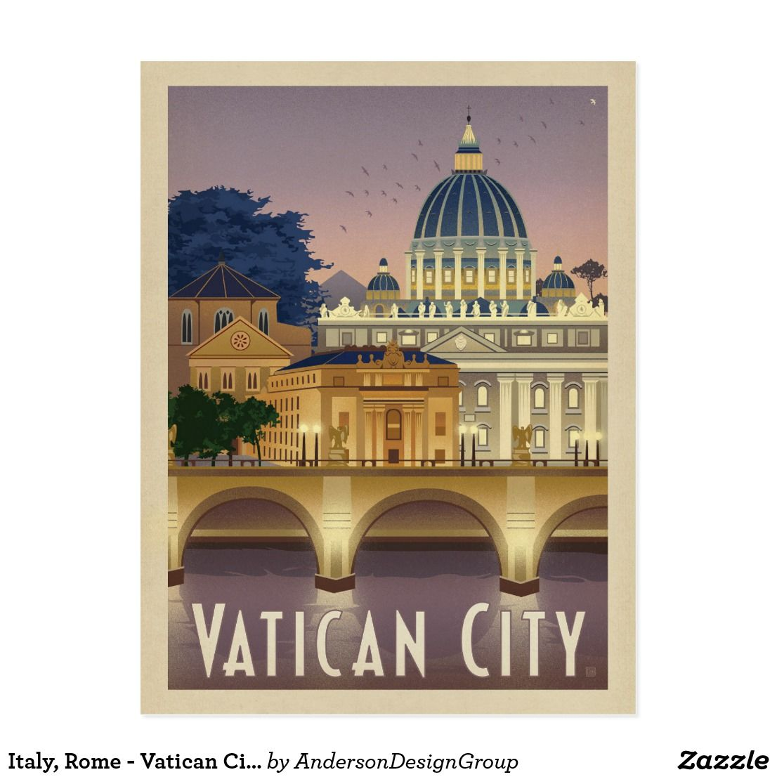 VINTAGE ROME ITALY ITALIAN TRAVEL A2 POSTER PRINT