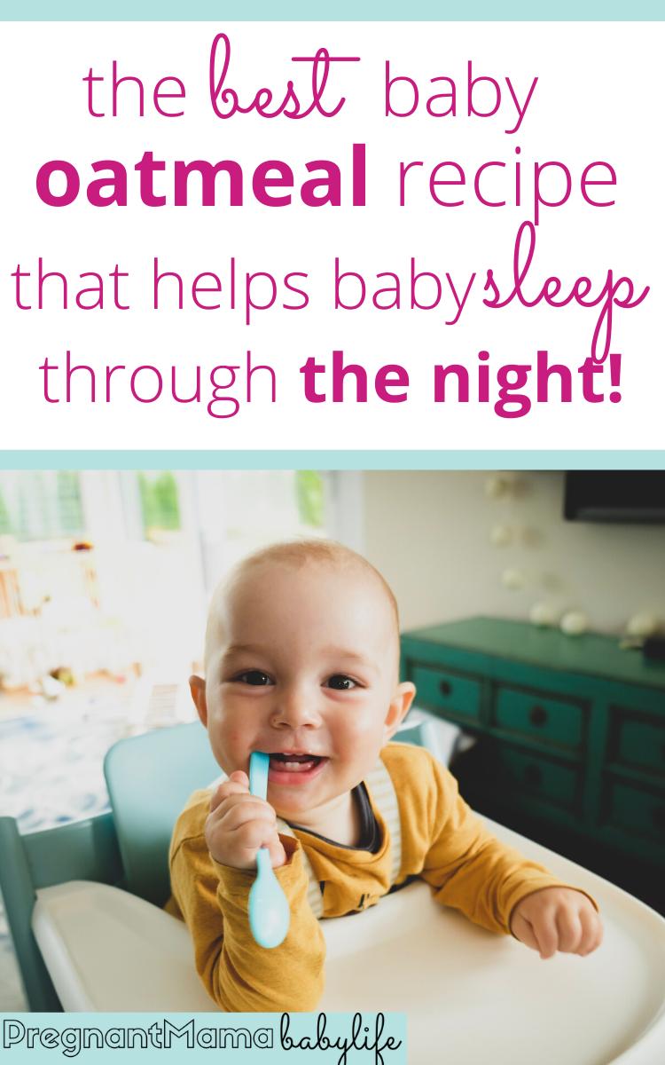 Sleepy Time Baby Oatmeal Recipe Help Baby Sleep Baby Bedtime Bedtime Routine Baby