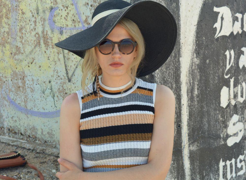 Sonnenbrille Hut Outfit