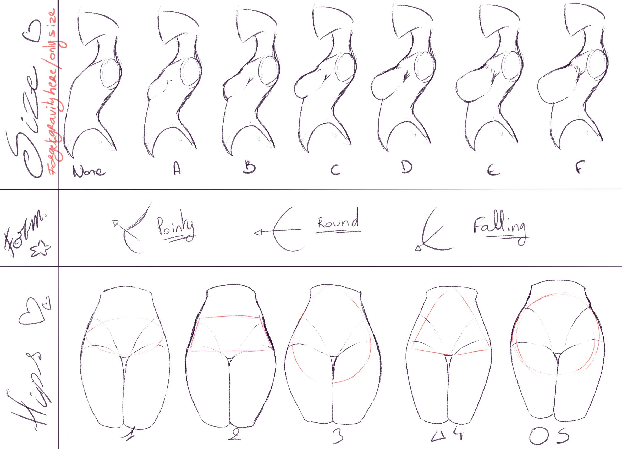How to draw breasts under clothes
