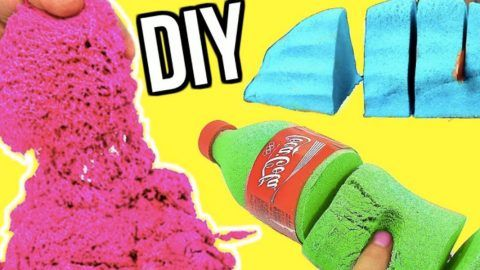 Kinetic Sand Is The Rage And Expensive Too — Save Money With This DIY Kinetic Sand At Home! | DIY Joy Projects and Crafts Ideas