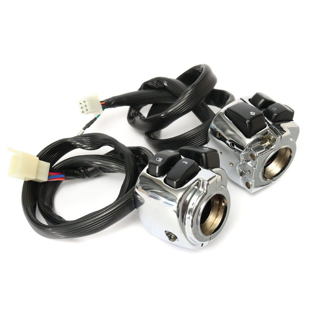 1 Inch Handlebar Control Switches With Wiring Harness For Harley Nomenclature Motorcycle