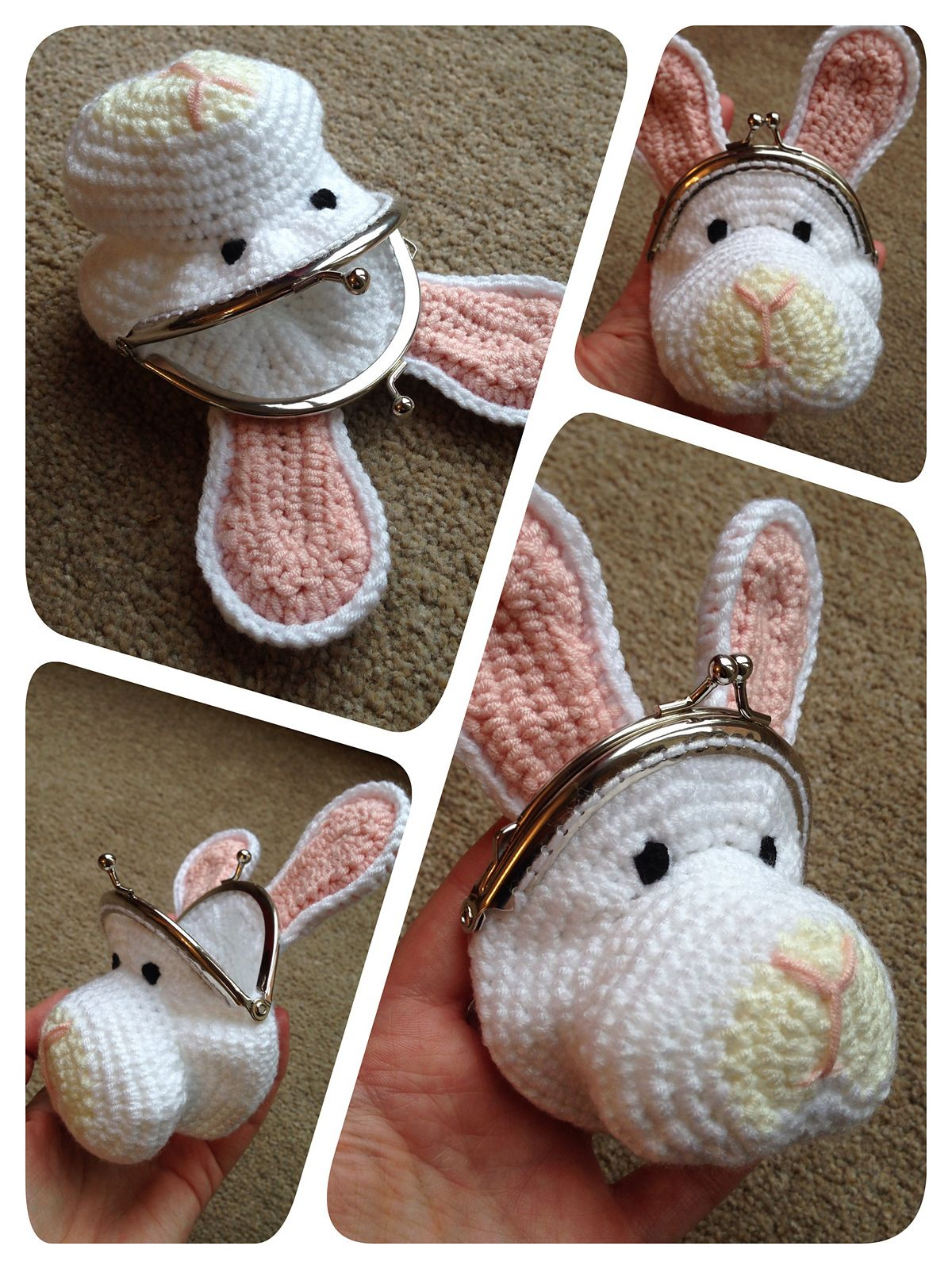 Rabbit Coin Purse pattern by Laura Sutcliffe