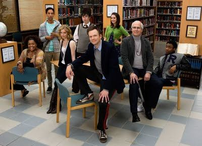 New TV Shows   --------------------------  Community and Modern Family are two new shows that promise to be funny.  Community has great writers and a different style of comedy.  aved, cast, college, community, dexter, dialog, dumb kids, funny, good writers, hate the kids, modern family, study, talk, troy, tv show