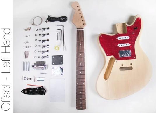 Diy Electric Guitar Kit Jaguar Style Left Hand Guitar Kit Guitar Kits Diy Electric Guitar Electric Guitar