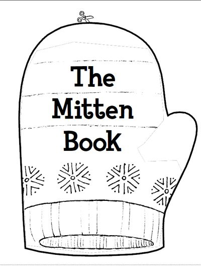 This is a photo of Witty The Mitten Printable Book