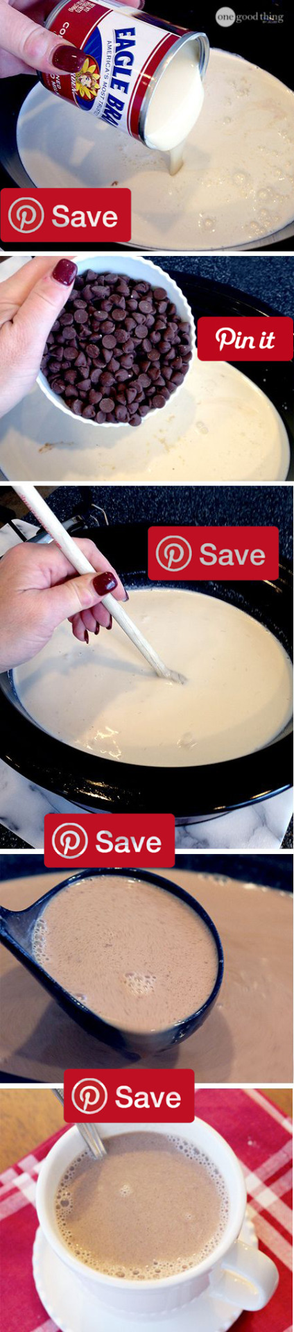 Best Ever Creamy Crockpot Cocoa 2 hrs to make IngredientsVegetarian Gluten freeBaking & Spices2 cups easys Chocolate chips1  tsp VanillaDairy1 14 ounce can Condensed milk sweetened1  cups Heavy whipping cream6 cups Milk