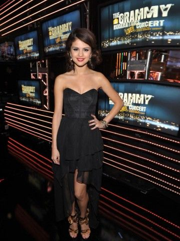 Sweetheart Dress Black Selena Gomez