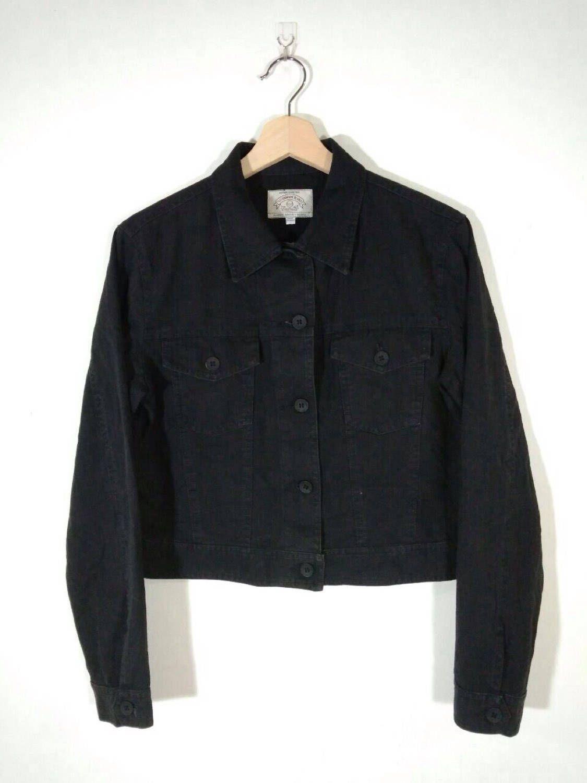 e559a62612 Rare!! 90 s Armani Jeans Black Button Giorgio Armani Women s Denim ...