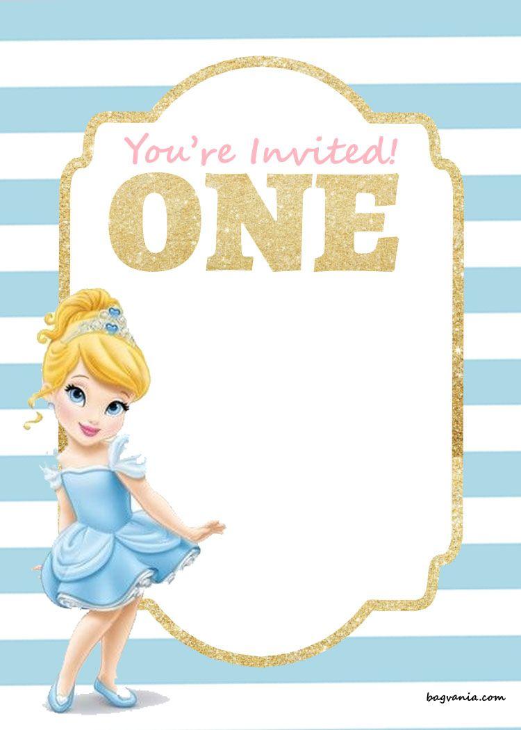 Nice free printable disney princess 1st birthday invitations nice free printable disney princess 1st birthday invitations templates stopboris Images